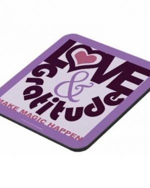 Coaster - Love & Gratitude Make Magic Happen - Coasters Of Digital Art